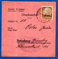 Allemagne   -  Drucksache -- Départ Strasbourg  - 6/12/1943 - Allemagne