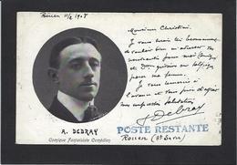 Autographe Signature à L'encre A. DEBRAY Rouen - Autographes