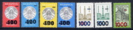 BELARUS 2001 Surcharges Set Of 7 MNH / **.  Michel 421-27 - Belarus