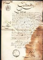 Saint Aubin Des Chateaux (44) Extrait état Civil - Naissance En 1836 - Voir état - Vieux Papiers