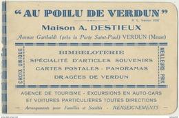55) VERDUN - Carte Pub Deux Volets : AU POILU DE VERDUN - Maison A. DESTIEUX - Plan Du Circuit Des Forts Et De L'Argonne - Verdun
