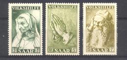 Sarre - N° 347 à 349 Neuf ** Sans Trace De Charnière - 1947-56 Occupation Alliée