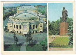 Kiev - The Theatre & The Monument To Taras Shevchenko - (Ukrain) - Oekraïne