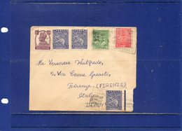 ##(DAN1811)-unreadable Date -Cover To Italy, Dominion Period Stamps, Mixed Francking With British India Stamp - 1947-49 Dominion