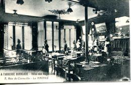 N°66980 -cpa Le Havre -hôtel Des Négociants- Rue Corneille-l'auberge Normande- - Hotels & Gaststätten