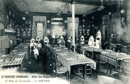N°66981 -cpa Le Havre -hôtel Des Négociants- Rue Corneille-l'auberge Normande- - Hotels & Gaststätten