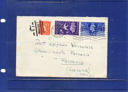 ##(DAN1811)-1958 -Cover To Italy, Mixed Francking King & Queen - 1952-.... (Elizabeth II)