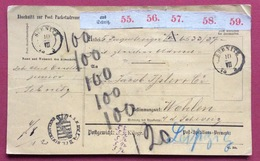 GERMANY PAKETKARTEN FROM SEBNITZ  TO WOHLEN SUISSE   10/VII/75 - Germania