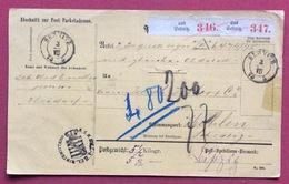 GERMANY PAKETKARTEN FROM SEBNITZ  TO WOHLEN SUISSE 3/VII/75 - Germany