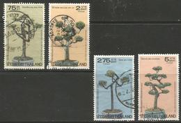 Thailand - 1981 Dwarf Trees Used    Sc 971-4 - Thailand
