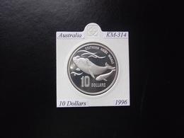 AUSTRALIA 1996, 10 DOLLARS, KM-314, PLATA, PROOF, 2 ESCANER - Monnaie Décimale (1966-...)