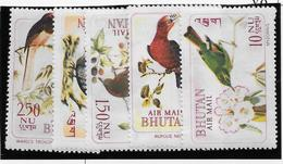 Bhoutan Poste Aérienne N°38/42 - Oiseaux - Neufs ** Sans Charnière - TB - Bhoutan