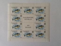 Seychellen 3 Sheets Wild  Sea Life 1980 MNH - Seychelles (1976-...)
