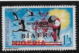 Nigéria Biaffra N°17 - Oiseaux - Neufs ** Sans Charnière - Pli B/TB - Nigeria (1961-...)