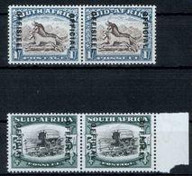 Südafrika D 56-57 U. 62-63 Dienstmarken 2 Paar Sauber Originalgummi M. Falzrest - Afrique Du Sud (...-1961)
