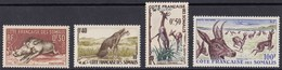 COSTA FRANCESE DEI SOMALI 1958 FAUNA - Francobolli