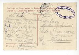 AVIATION FELDPOST BERN MUNSINGEN 1913 ARMEE SUISSE AIRSHIP ZEPPELIN BALLON KOMPAGNIE FRANCHISE /FREE SHIPPING R - Marcophilie