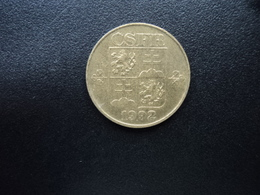 RÉPUBLIQUE FÉDÉRATIVE TCHÈQUE ET SLOVAQUE : 1 KORUNA   1992 R    KM 151   SUP - Tchécoslovaquie