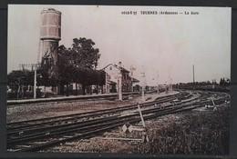 REPRODUCTION TOURNES  08  ARDENNES GARE PRES DE AZEUX MONTCORNET HAM LES MOINES HAUDRECY DAMOUZY HOULDIZY - Gares - Avec Trains