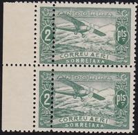 1932. PAISAJES. 2 PTAS. PAREJA. DOBLE DENTADO VERTICAL (ED. NE20). - Andorra Española