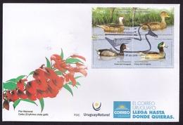 Uruguay - 2018 -  FDC - Série Printemps - Canards D'Uruguay - Canards - Uruguay