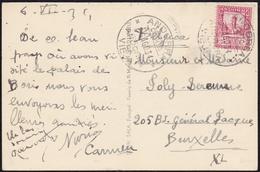1934. ANDORRA LA VIEJA A BRUSELAS. 25 CTS. SANTA COLOMA. TARJETA POSTAL. - Cartas