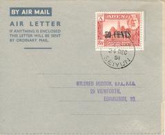 SEIYUN /KATHIRI State Of SEIYUN  - 24.12.1951 , Air Letter To Edinburgh - Francobolli