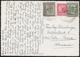 1953. ORDINO (ANDORRA) A ALEMANIA. FRANQUEO TRICOLOR. TARJETA POSTAL. - Cartas