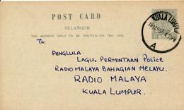 KUALA LUMPUR / Malaya  - 1957 , Post Card - Malayan Postal Union
