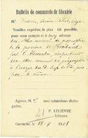 CP 1908 De GASTUCHE - F. LELIEVRE - Libraire - Cachet Privé - Oblit. Ambulant ARLON-BRUXELLES 1908 Sur 1c Gris Armories - Grez-Doiceau