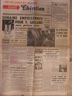Journal Libération (18 Nov 1957) Disparition Du Journal Franc Tireur - Catastrophe De Chantonnay - Brassens - 1950 - Nu