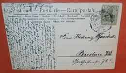 DEUTSCHES REICH Tarnowitz Schlesien 10.01.1908 ? - Postcard AK Wald See K&B D Serie 3056 -- Brief Cover (2 Foto)(137136) - Lettres & Documents