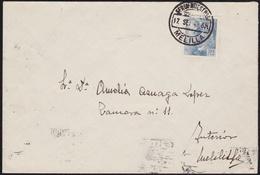"""1945. CORREO INTERIOR MELILLA. 30 CTS. MAT. """"FERIA MUESTRAS/MELILLA"""". - 1931-50 Storia Postale"""