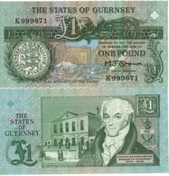GUERNSEY    £ 1   BROWN Sign.   P52a - Guernsey