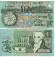 GUERNSEY    £ 1   TRESTAIN Sign.   P52b - Guernsey