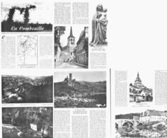 """"""" LA COMBRAILLE """" NERIS / EVAUX-LES-BAINS /MOULIN DE ZOME / MINES D'OR DU CHATELET / CHAMBON-SUR-VOUEIZE 1951 - Auvergne"""