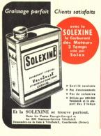 """PUB  """" SOLEXINE  """"  1952 ( 3 ) - Transports"""