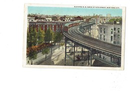Cpa - New York City - Elevated R.r. Curve At 110TH Street - Train Suspendu - 1931  - Chemin De Fer - Transports