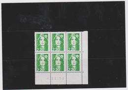 FRANCE MARIANNE DE BRIAT 1 COIN DATE CD2714 (6 T 2,20 F Vert Foncé)  04.11.92 - Esquina Con Fecha