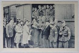 Lot 3 Cpa Barr, Bas-Rhin, Ravitaillement Des Rapatriés Par La Population De Barr Et Des Environs, Avril 1945, WW2 - Barr