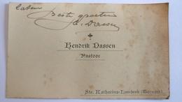 Ternat / Pastoor Hendrik Dassen, Naamkaartje Met Tekst Erop. - Historische Documenten