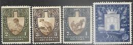 Croatia  1943   Sc#B25-28 Labor Service Set MH  & Golden Bull Rights Charities MLH   2016 Scott Value $18.75 - Croatie