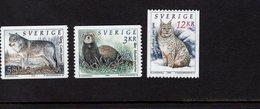 673666633 SWEDEN  POSTFRIS MINT NEVER HINGED POSTFRISCH EINWANDFREI SCOTT 1929 1932 1936 ANIMALS LINX LUPUS MUSTELA - Suède