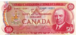 "CANADA 50 DOLLARS 1975 AU P-90b ""free Shipping Via Registered Air Mail"" - Canada"
