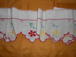 Devant De Cheminée - Tissu Coton Brodé - 3,25 X 0,25 M - - Dentelles Et Tissus