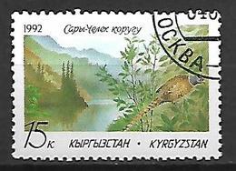 KIRGHIZSTAN     -   1992  .   Y&T N° 3 Oblitéré.  Faisan  /  Protection De La Nature. - Kirghizistan