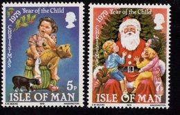 673667863 ISLE OF MAN  POSTFRIS MINT NEVER HINGED POSTFRISCH EINWANDFREI SCOTT 156 157 CHRISTMAS CHILD AND BEAR AND CAT - Man (Ile De)