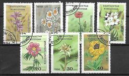 KIRGHIZSTAN     -   1994  .   Y&T N° 32 à 38 Oblitérés.  Fleurs .  Série Complète. - Kirghizistan