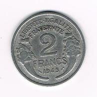 =&  FRANKRIJK 2 FRANCS 1945 - France