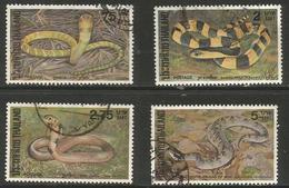 Thailand - 1981 Snakes Used    Sc 977-80 - Thailand